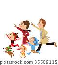 วิ่ง,ครอบครัว,ชี้นิ้ว 35509115