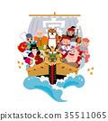 illustration, year of the dog, treasure ship 35511065