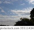 秋天Inage海滩公园蓝天和白色云彩 35511434