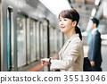 ความร่วมมือการถ่ายภาพผู้หญิงธุรกิจรถไฟย้าย· Keio ไฟฟ้ารถไฟ จำกัด 35513046