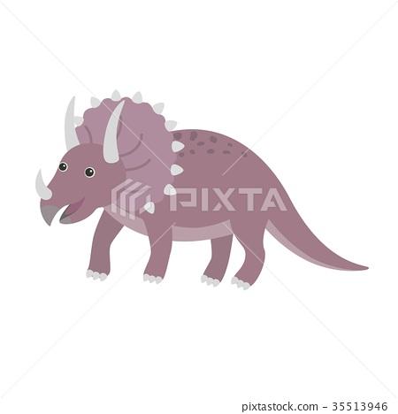 Triceratops dinosaur vector 35513946
