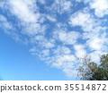 秋天Inage海滩公园蓝天和白色云彩 35514872
