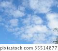 秋天Inage海滩公园蓝天和白色云彩 35514877