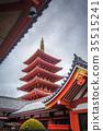 Pagoda in Senso-ji temple, Tokyo, Japan 35515241