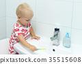 toothpaste, toddler, child 35515608