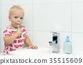 child, toddler, toothbrush 35515609