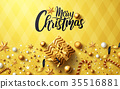 Christmas and New Years Golden Poster 35516881