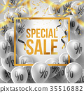 Special Sale Poster Gray and Gold style by Balloon 35516882