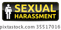Sexual Harassment - Banner with woman pictogram 35517016