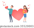 The man holding heart and Woman holding heart 35520003