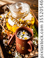 Cup of chamomile tea 35520546