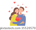The couple are holding each other. 35520570