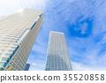 塔公寓和藍天 35520858