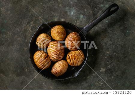Accordion baked potatoes 35521226