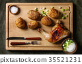 Accordion baked potatoes 35521231
