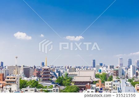 天空 藍天 建築 35521550