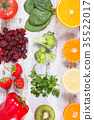 Fresh fruits and vegetables containing vitamin C 35522017