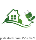 Eco house and electric plug 35522671