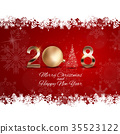 2018 New Year Background with Christmas Ball 35523122