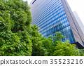辦公區域的風景與綠色的 35523216