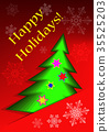 Greeting card with abstract christmas tree  35525203
