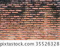 Old vintage brick wall grunge style for background 35526328