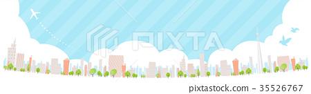 Townscape back image illustration_skyline wide 35526767