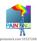 彩绘 描画 轴 35527268