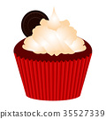 Isolated cupcake illustration 35527339
