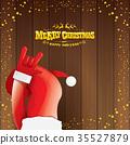 vector cartoon Santa Claus rock n roll style with 35527879