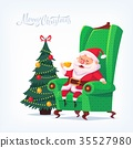 Santa Claus Merry Christmas vector cartoon 35527980