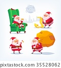 Collection of cartoon vector Santa Claus icons 35528062