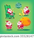 Collection of cartoon vector Santa Claus icons 35528147