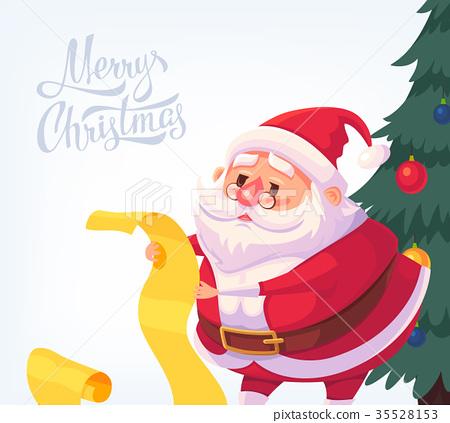 Santa Claus Merry Christmas vector cartoon 35528153