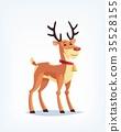 Cartoon reindeer vector illustration 35528155