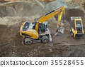 Construction site machinery 35528455