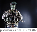 French paratrooper with weapons 35529302
