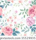 Floral seamless pattern. Flower garden background 35529935
