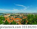 Prague old city panorama 35530293