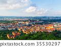 Prague old city panorama 35530297