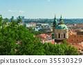 Prague old city panorama 35530329