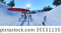สกีรีสอร์ท,ภูเขาหิมะ,สกี 35531135