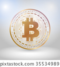 Golden bit coin digital currency 35534989