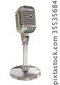 Vintage studio microphone. 3D render 35535684