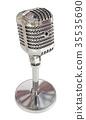 Vintage studio microphone. 3D render 35535690