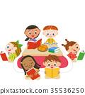 책을 읽는 아이들 35536250