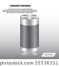 Speaker portable and stereo sound, Vector 35536331