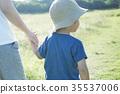 여성, 모자, 신체 35537006