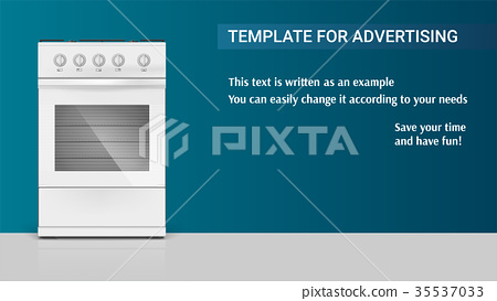 Template with gas stove with oven for 35537033