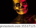 Pretty girl with skeleton makeup 35537125